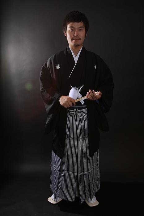 新郎紋付羽織袴